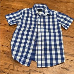 Boys Button Up T-Shirt Size Small 6/7
